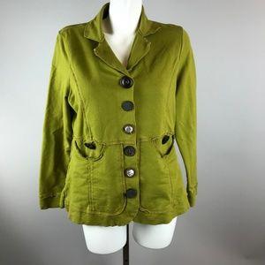 Neon Buddha Neon Olive Green Long Sleeve Jacket L
